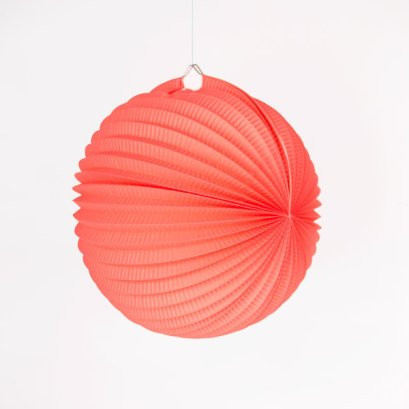 deco-anniversaire-enfant-lampion-rond-accordeon-corail