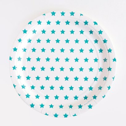 decoration-de-table-anniversaire-enfant-assiettes-en-carton-etoiles-bleues-my-little-day