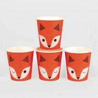decoration-gobelets-papier-renards