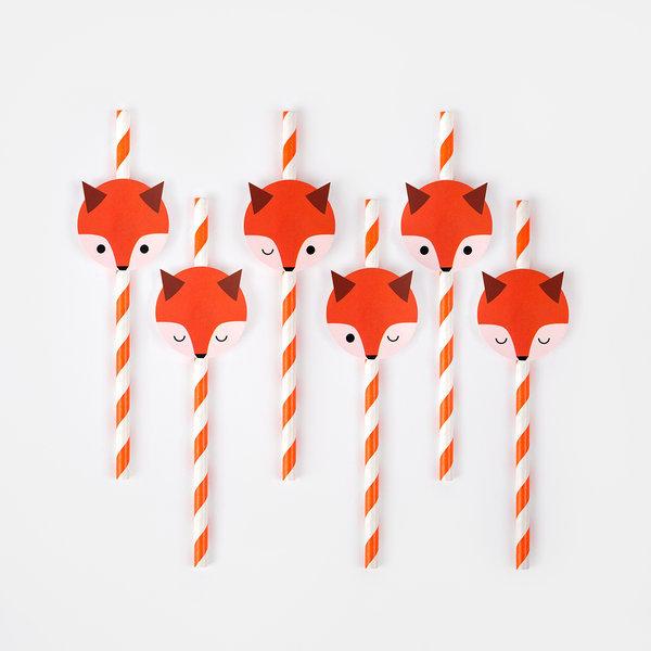 decoration-pailles-papier-renards