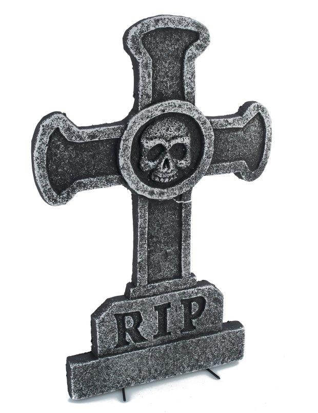 decoration-pierre-tombale-croix-avec-tete-de-mort-39x58cm_307590